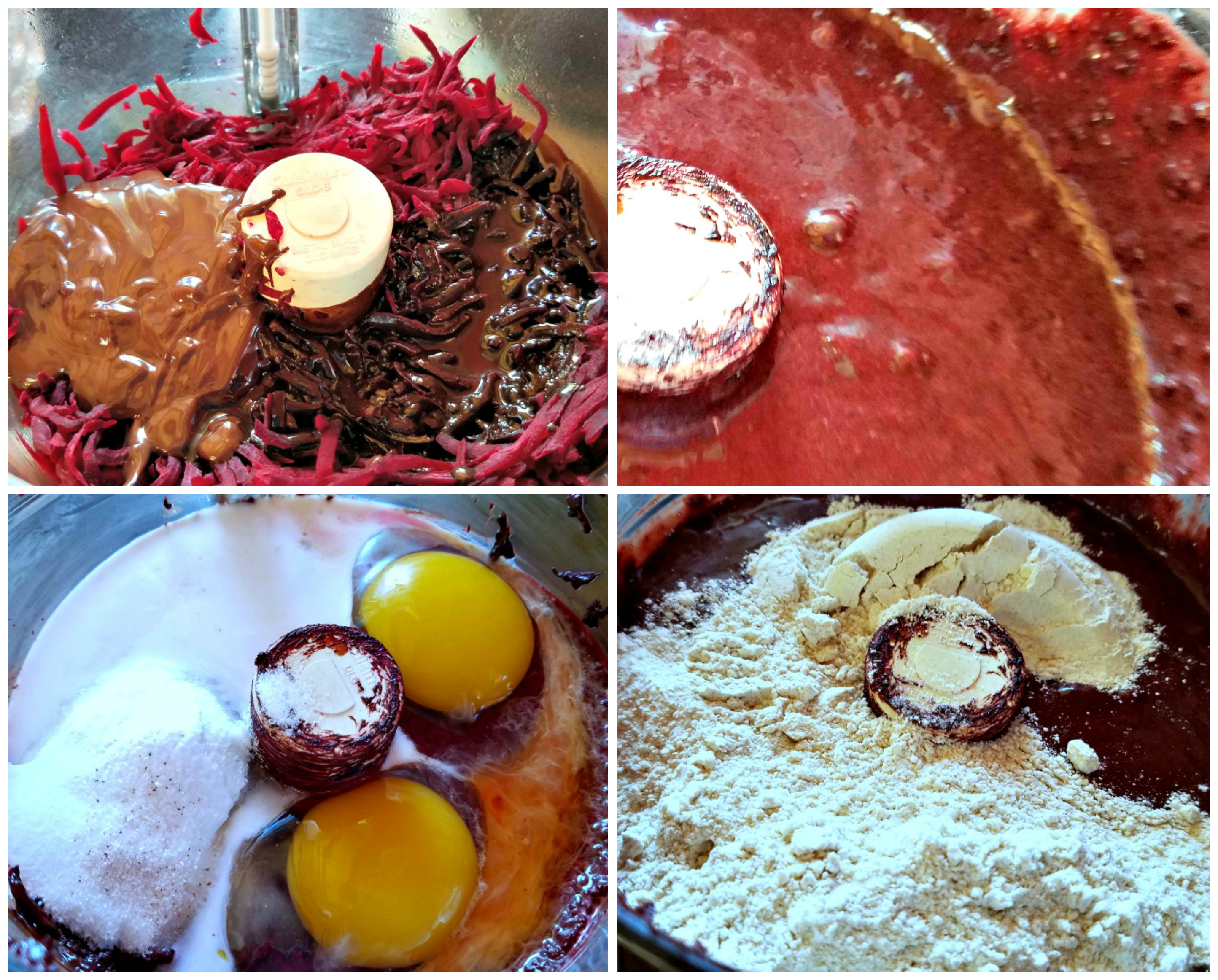 Chocolate Beet Cake, Chocolate Beet Cake with Strawberry Filling