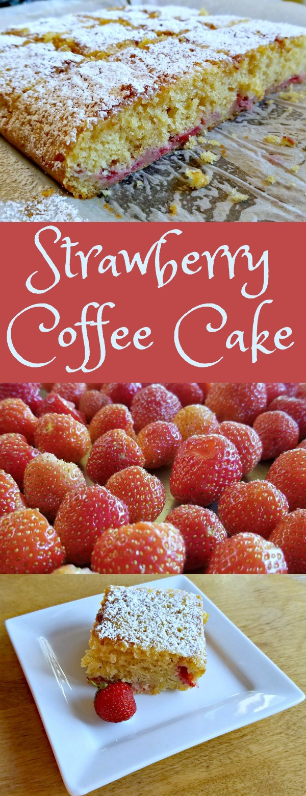 Strawberry Coffee Cake, coffee cake recipe, strawberries
