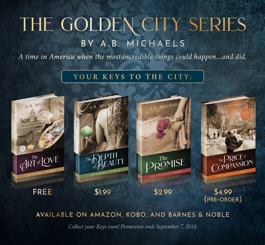 The Golden City Series by A. B. Michaels is on SALE!