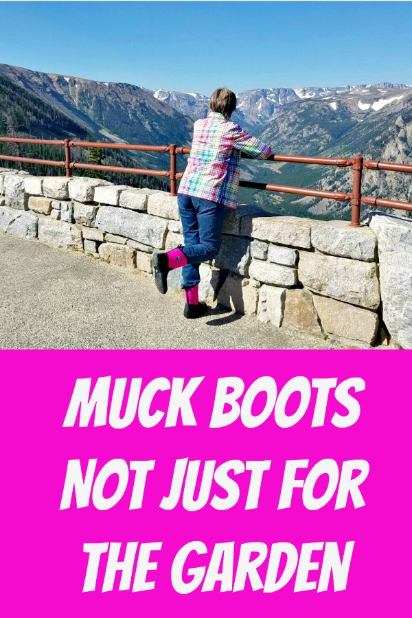Muck Boots are not just for the garden. AD