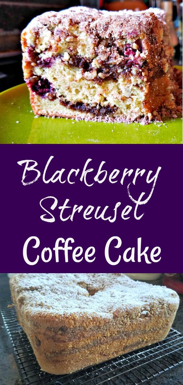 best coffee cake recipe, moist coffee cake, sour cream coffee cake, blackberry recipe, blackberry streusel coffee cake, coffee cake