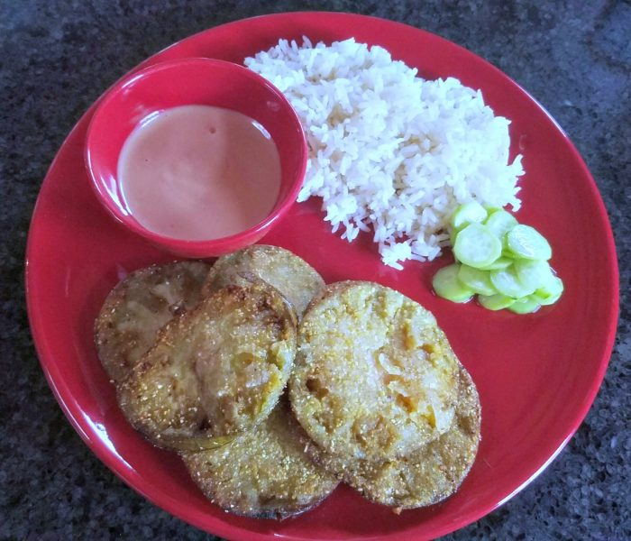 The Best, Easy Fried Green Tomatoes with Sauce