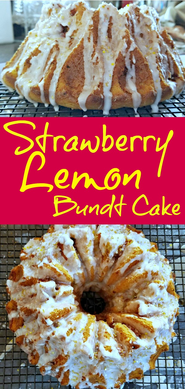 strawberry lemon bundt cake recipe, lemon bundt cake, bundt cake recipe