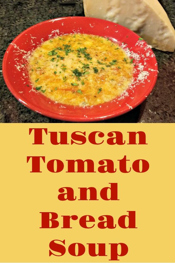 Tuscan Tomato Bread Soup, recipe, Tasting Italy, AD
