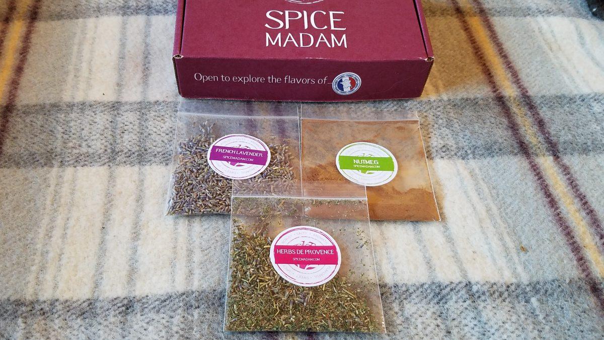 Spice Madam Subscription Box, Lavendar Madeleines, AD