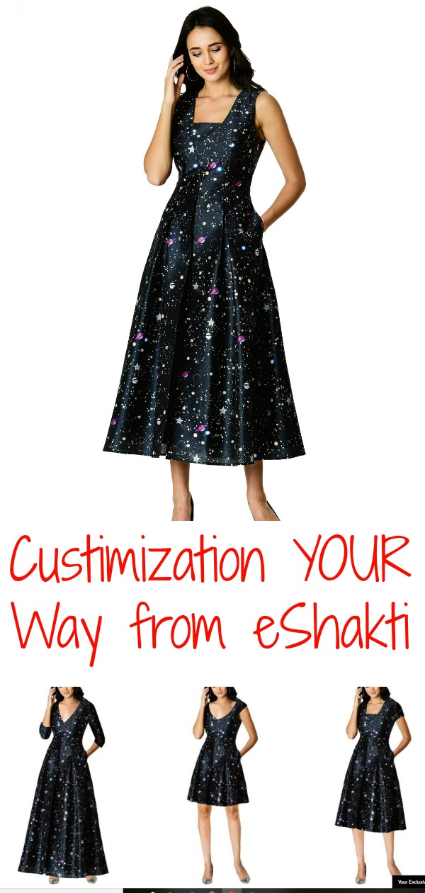 custom fashion from eShakti, eShakti, AD