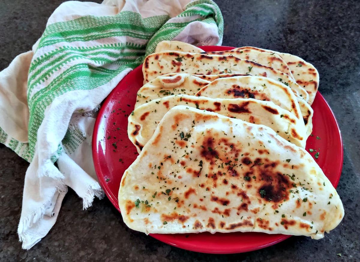 homemade naan recipe, naan, flatbread