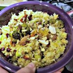 Orange Rice Salad Recipe – with Pomegranate and Almonds. A Vegetarian Recipe