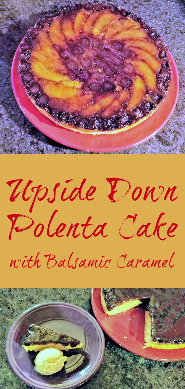 Upside Down Polenta Cake with Balsamic Caramel, recipe, Poh Bakes 100 Greats, upside down cake