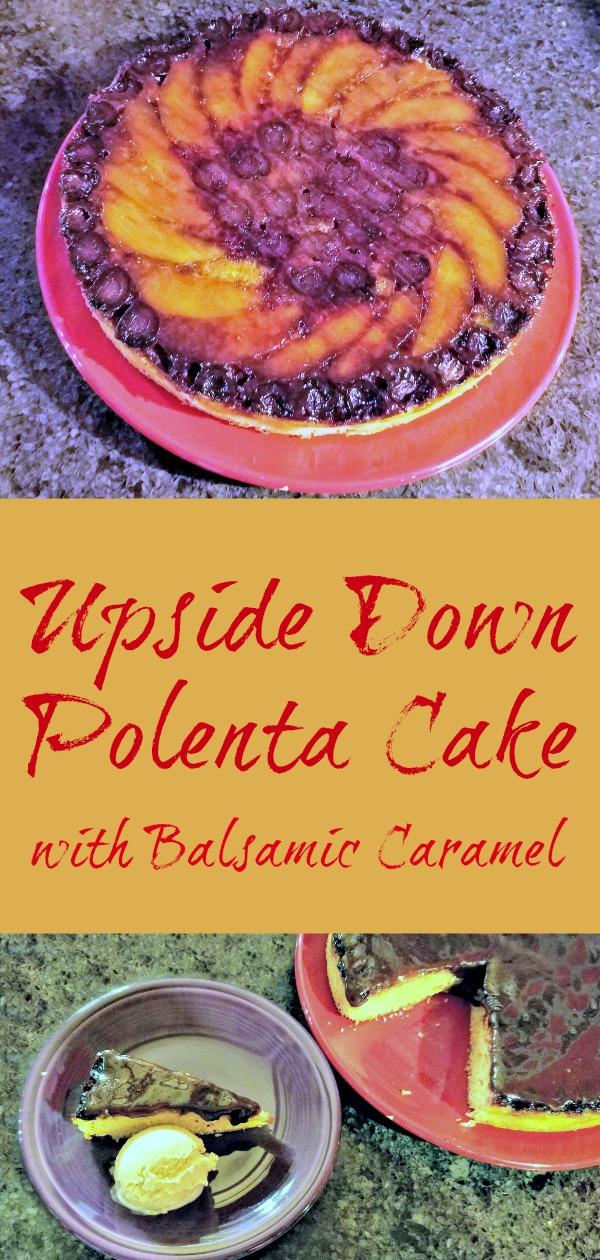 Upside Down Polenta Cake with Balsamic Caramel, recipe, Poh Bakes 100 Greats, upside down cake