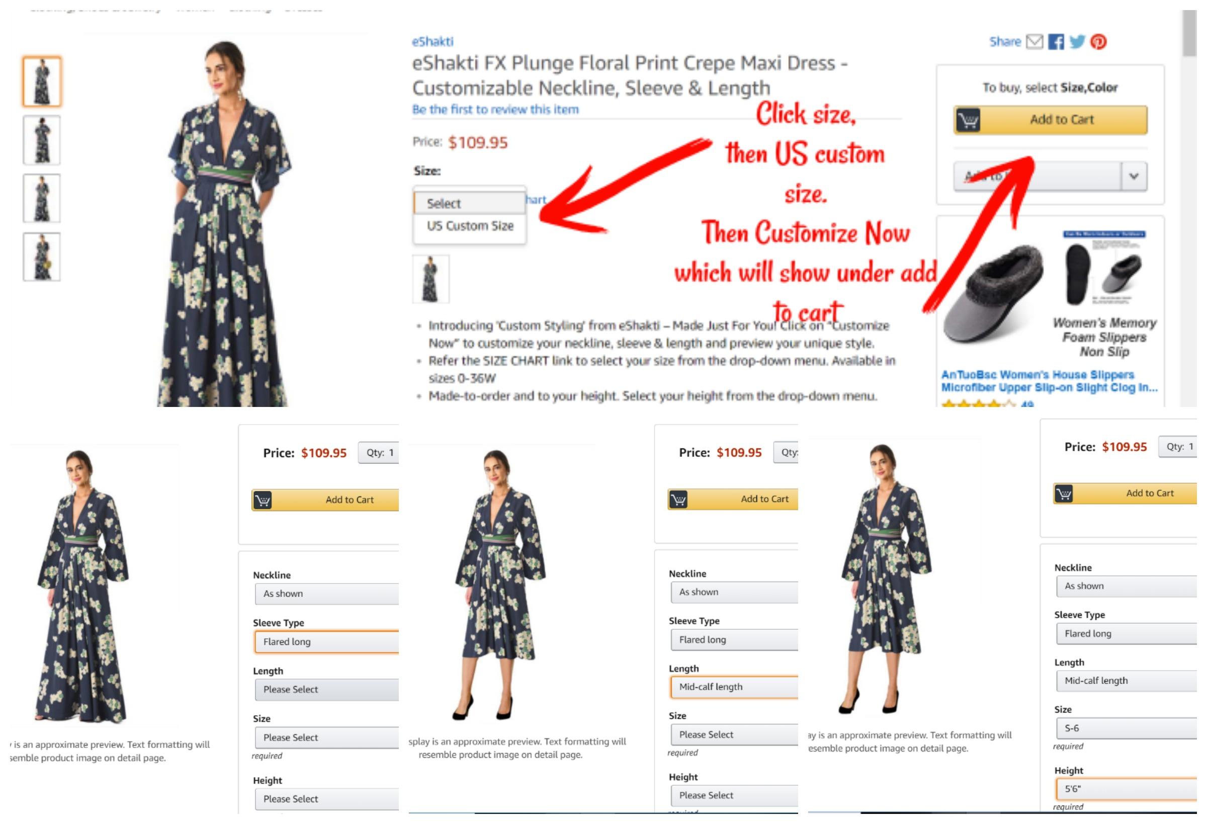 eShakti Custom Styling now on Amazon, eShakti FX on Amazon, AD