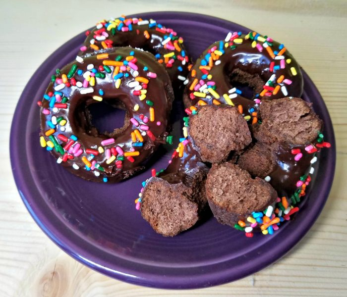 How to Make Chocolate Cake Donuts with Chocolate Glaze
