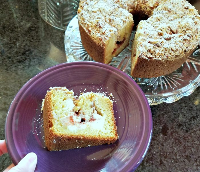 Cheesecake Filled Pound Cake with Strawberry Jam – Recipe