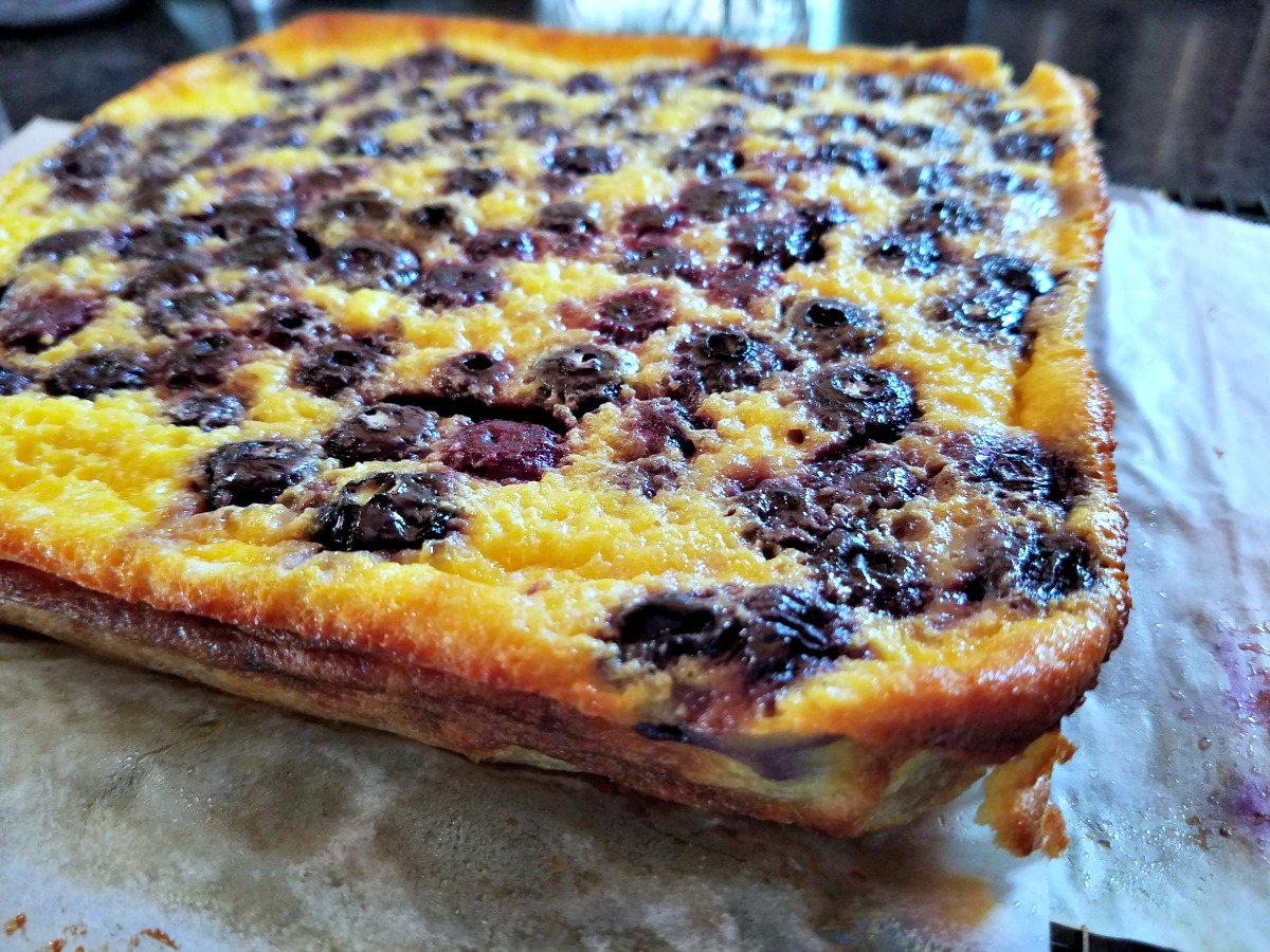 frozen blueberry recipe, blueberry buttermilk pie bars