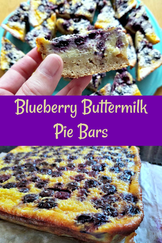 blueberry buttermilk pie bars, frozen blueberry recipe, blueberry cookies