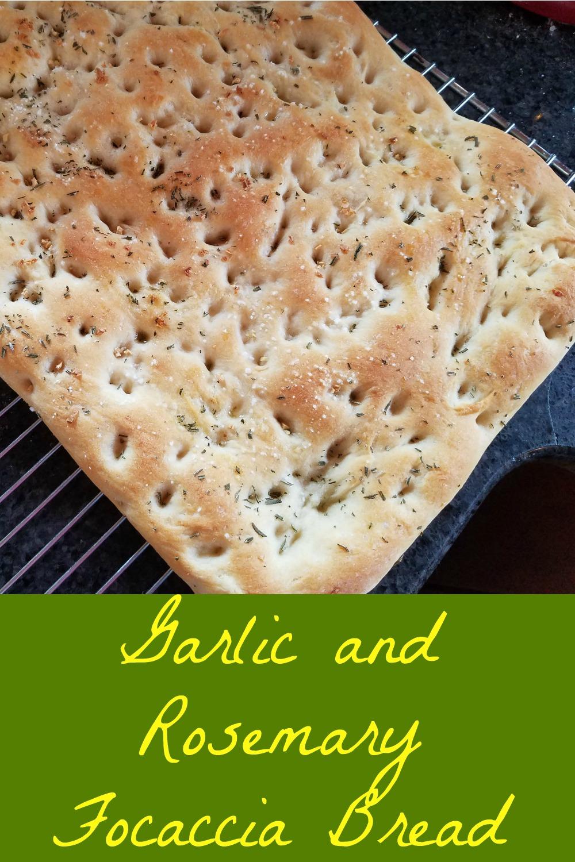 focaccia bread, garlic rosemary focaccia bread, flatbread recipe