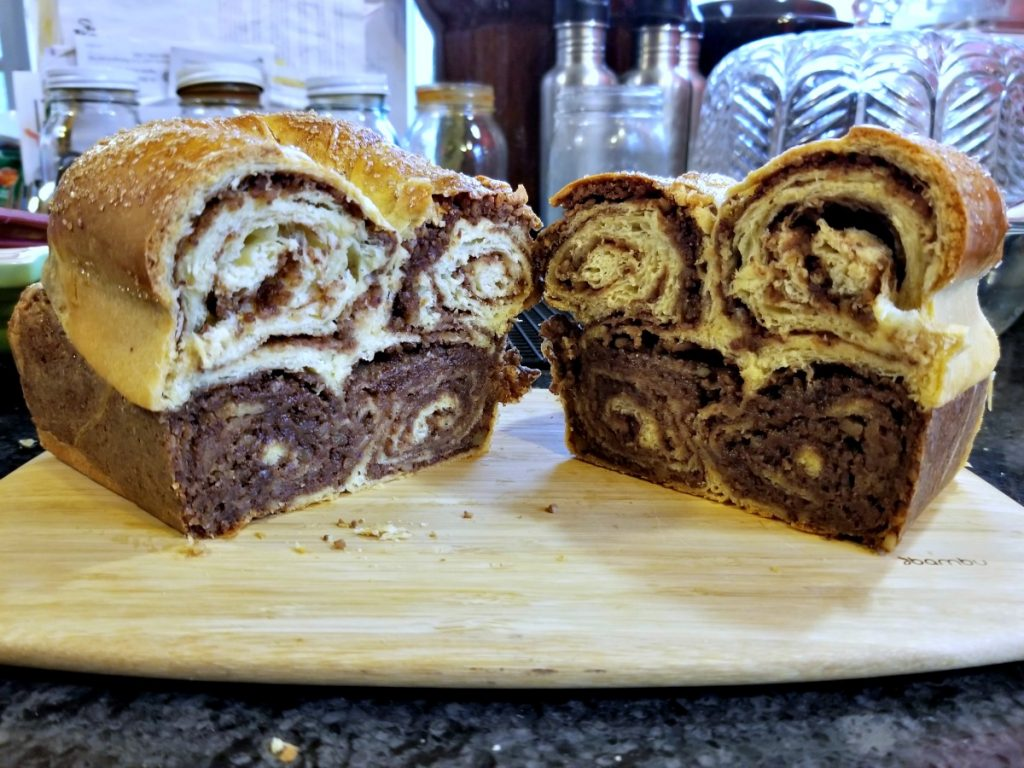 Povitica, walnut swirl bread