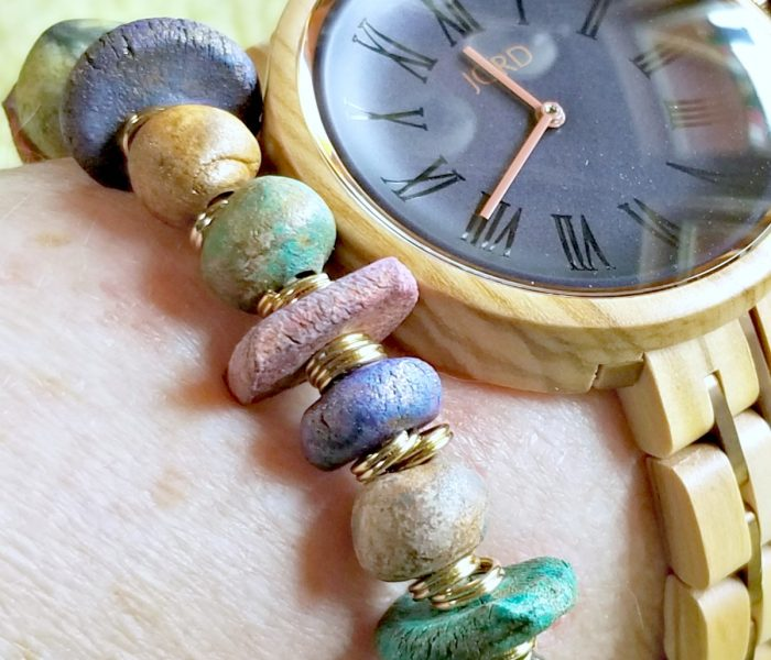 Styling a Wood Watch with Artisan Bracelets