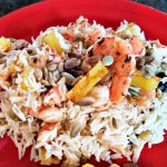 grilled rice and pineapple salad