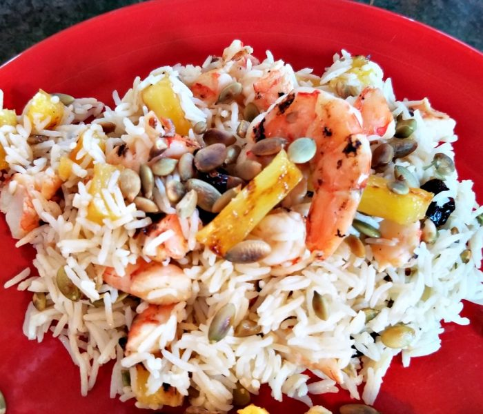 Grilled Shrimp and Pineapple Rice Salad Recipe