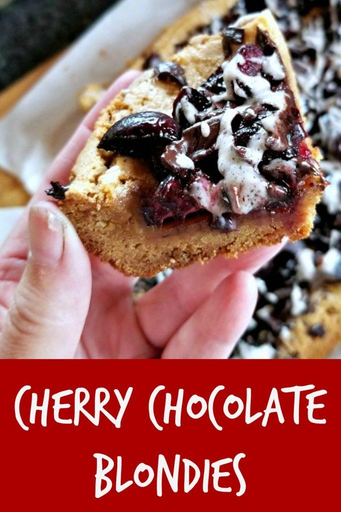 Cherry Chocolate Blondie, cherry dessert recipe
