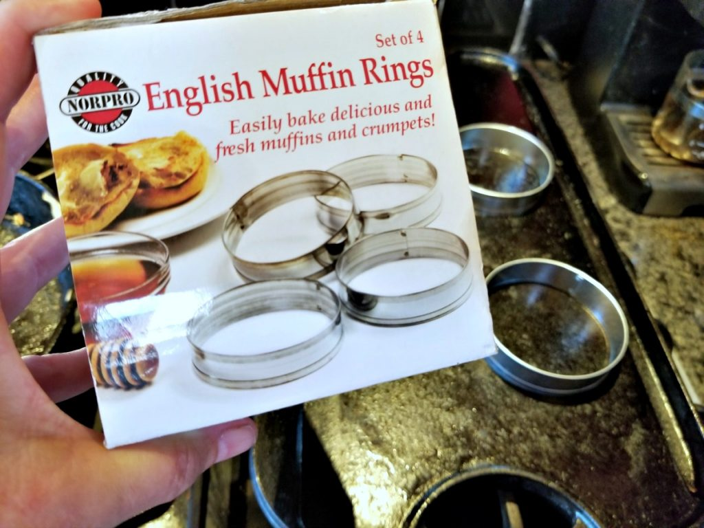 English muffin rings for homemade crumpet recipe