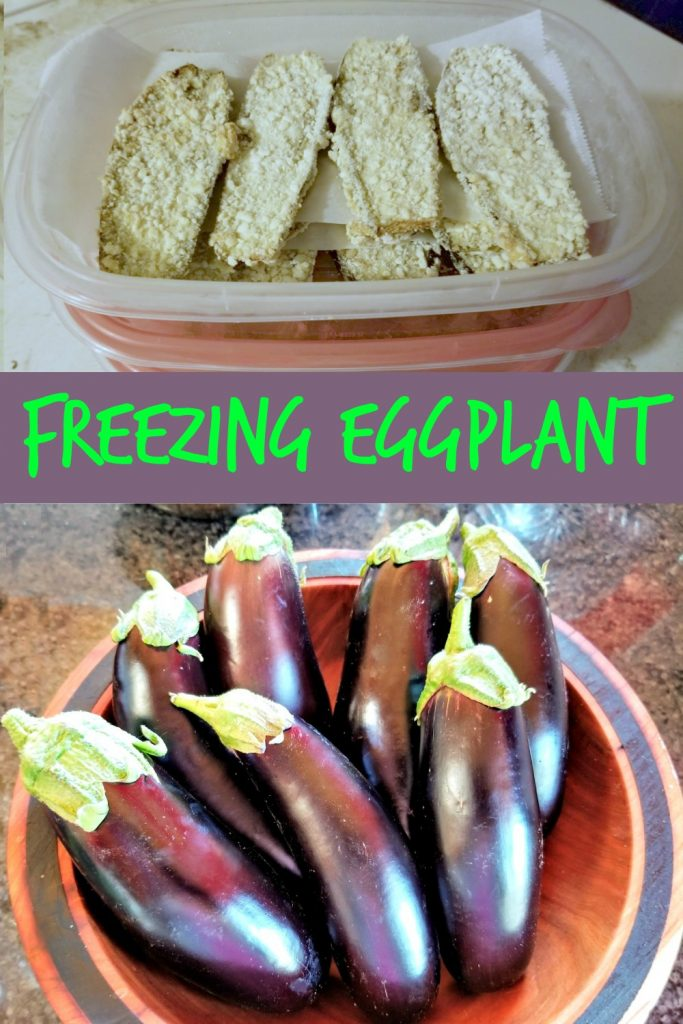 freezing eggplant, freezing breaded eggplant, breaded eggplant