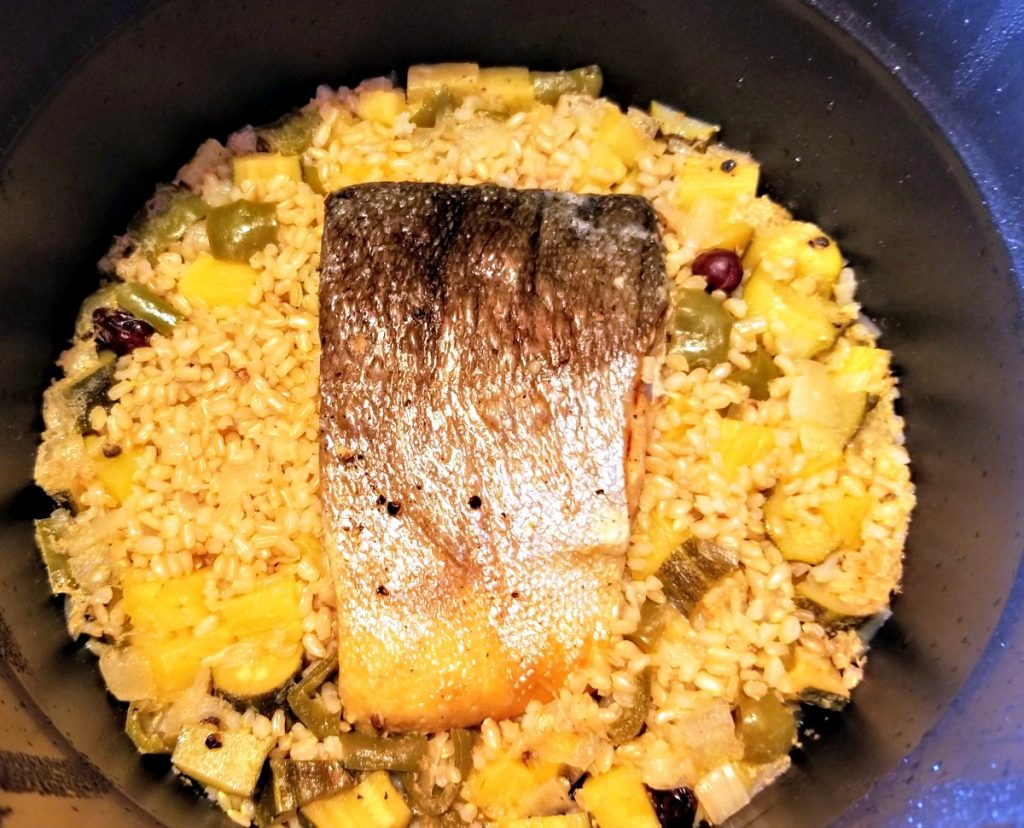 cooked salmon in instant pot