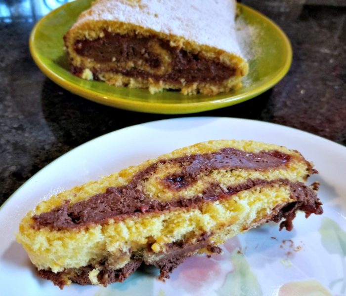Jelly Roll Recipe with Chocolate Mousse