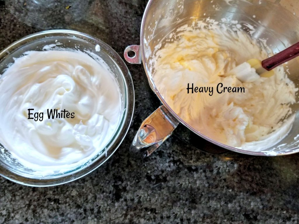 whip eggs and whip cream