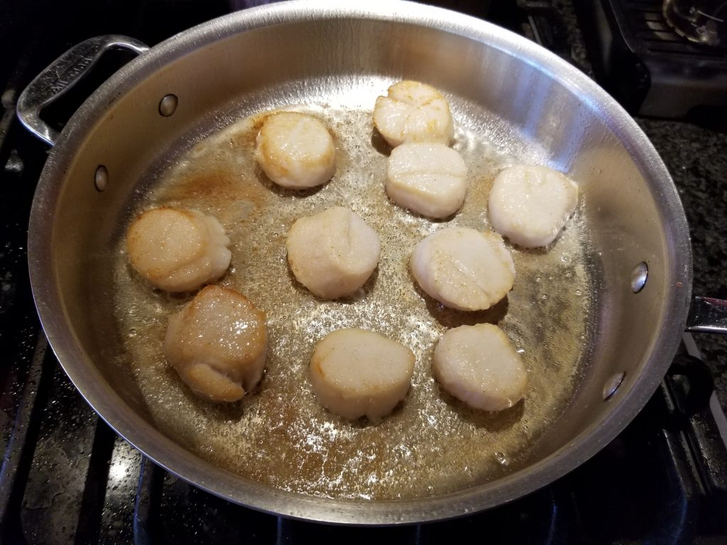 pan fry scallops for dinner for two