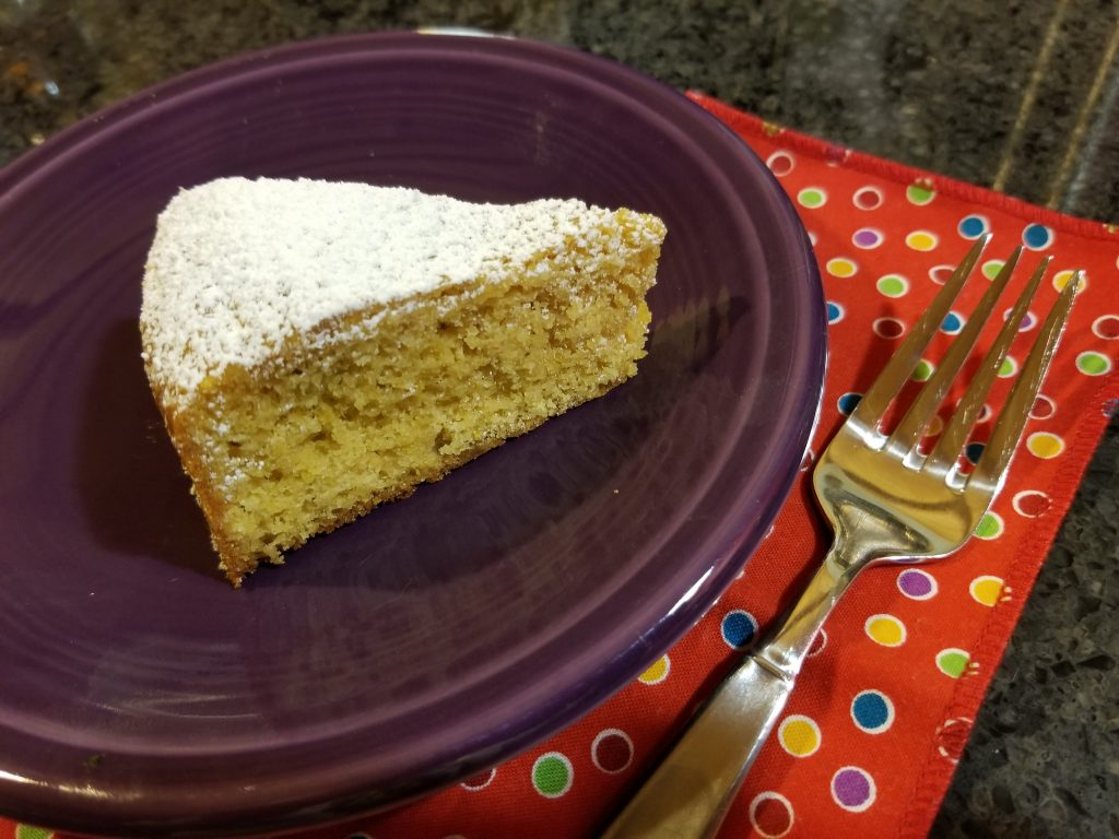 Yogurt Cake with Lemon and Ginger slice