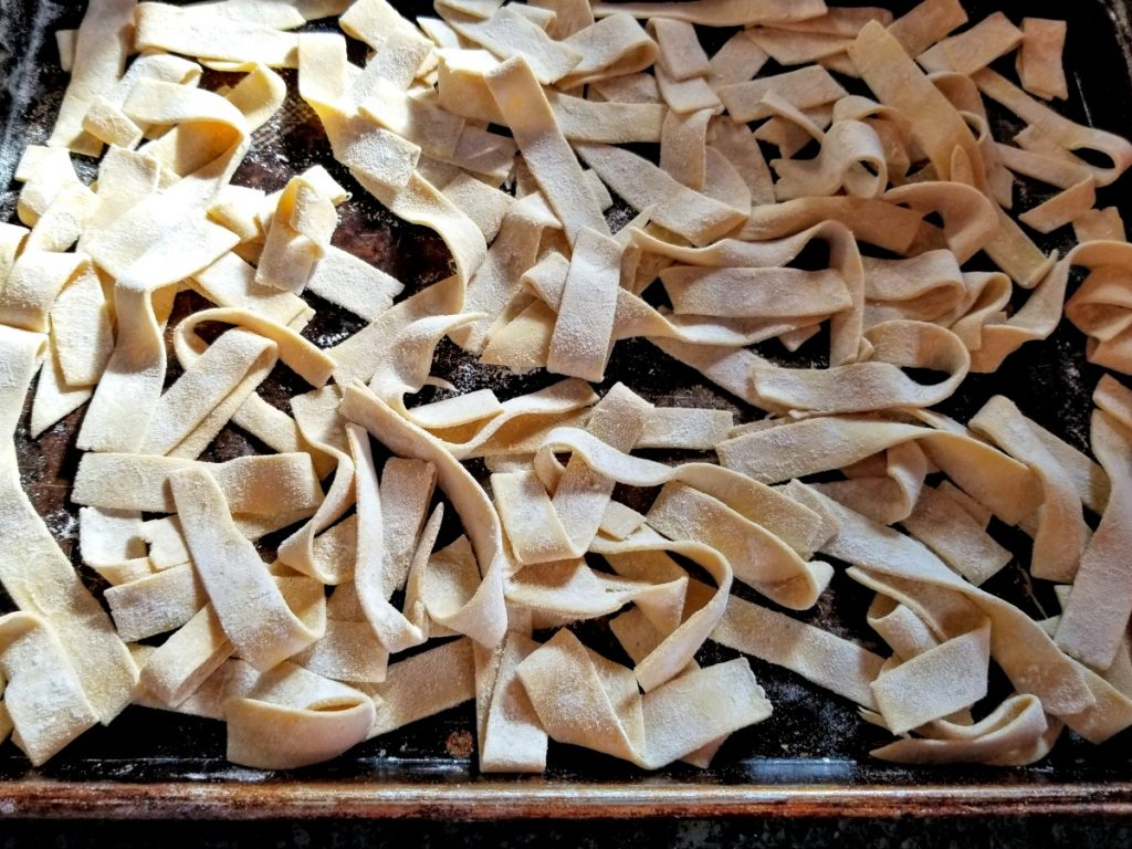 let noodles dry
