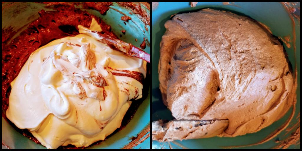 finishing chocolate mousse