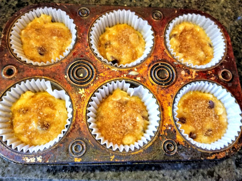 add patter to muffin tins