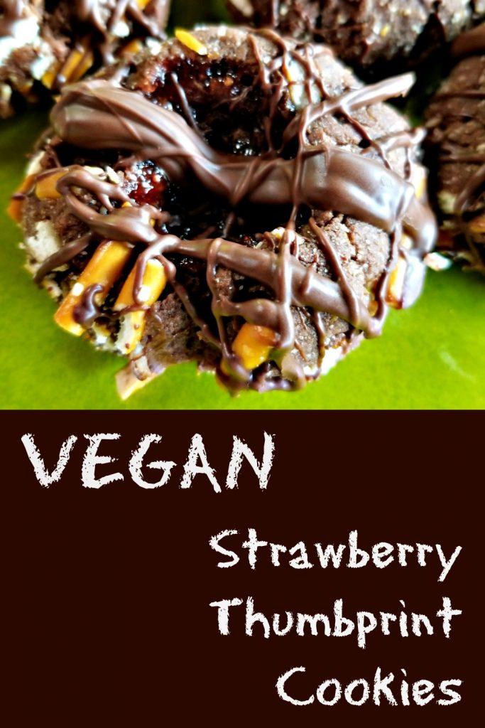 Vegan Strawberry Thumbprint Cookies, vegan cookie recipe