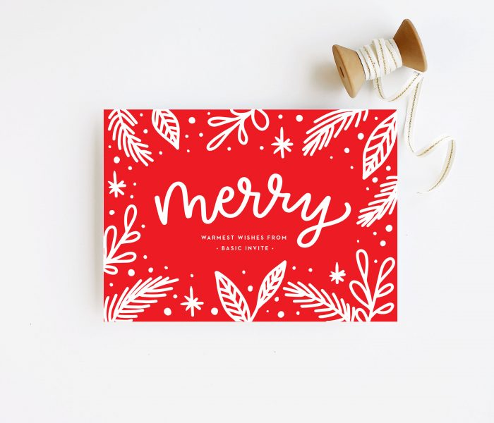 Modern Holiday Cards – Ordering Online is Easy with Basic Invite and a Coupon Code