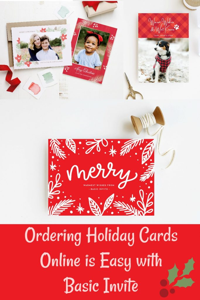 modern holiday cards from Basic Invite
