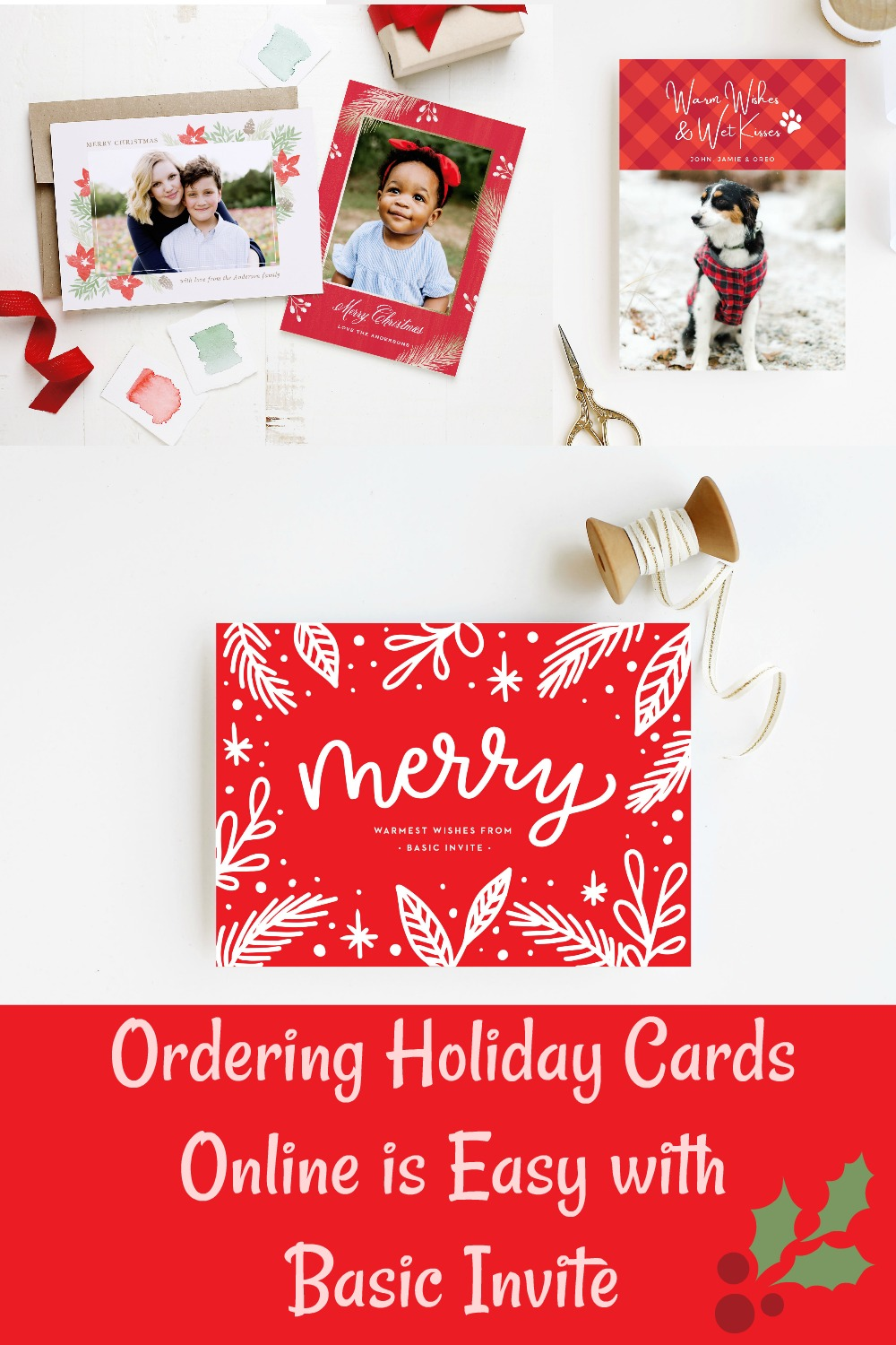 Holiday Cards Online >> Modern Holiday Cards Ordering Online Is Easy With Basic Invite