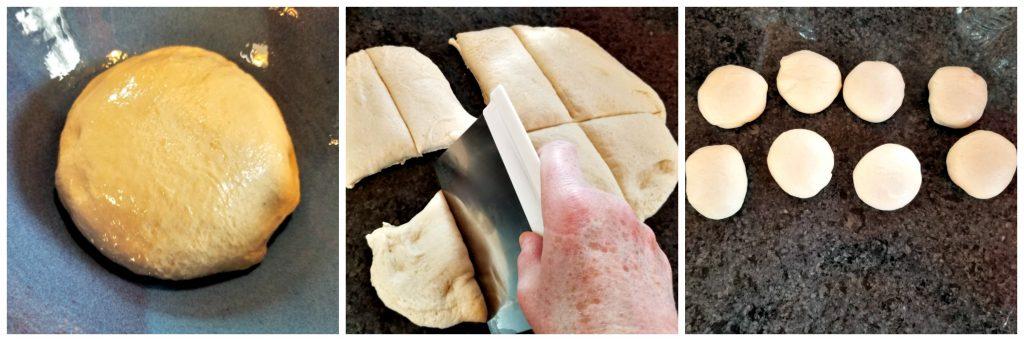 cut dough into balls