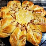 star bread, christmas star bread, snowflake bread