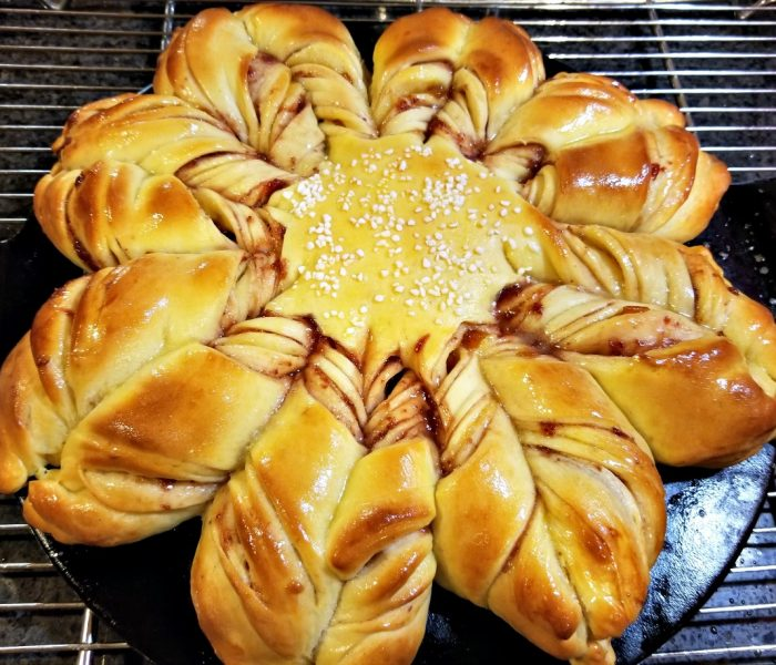 How to Make Star Bread, Also Called a Christmas Star Bread or a Snowflake Bread