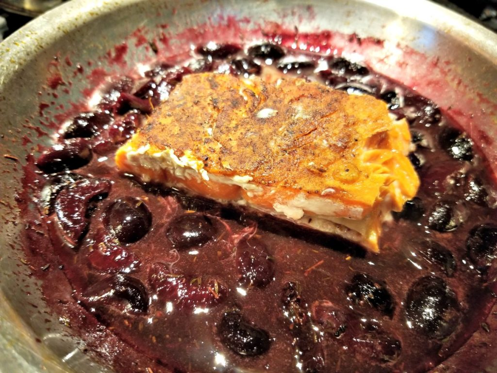 cook salmon and cherries