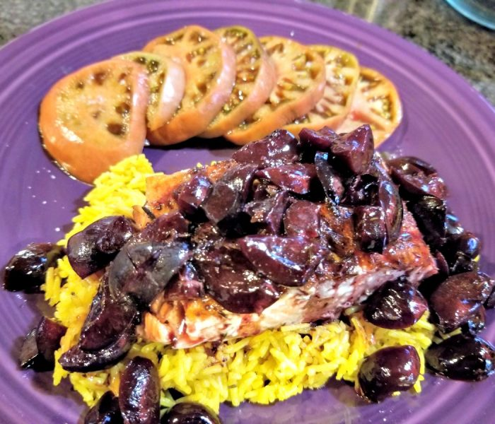 Salmon and Cherries: Salmon in Cherry Ale Sauce