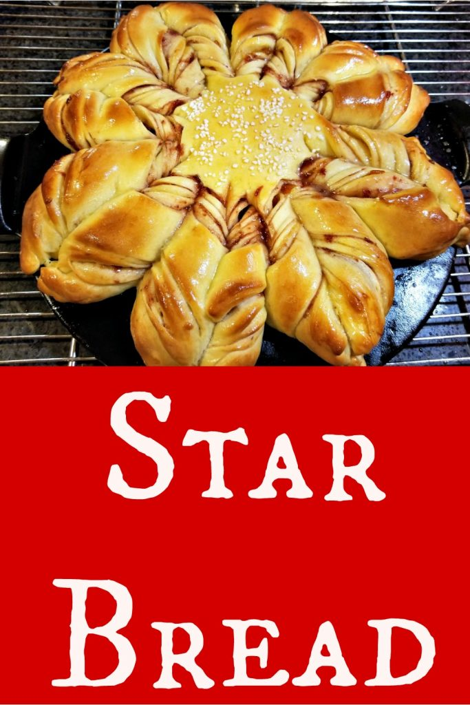 Star Bread, How to Make Star Bread, Christmas Star Bread, snowflake bread