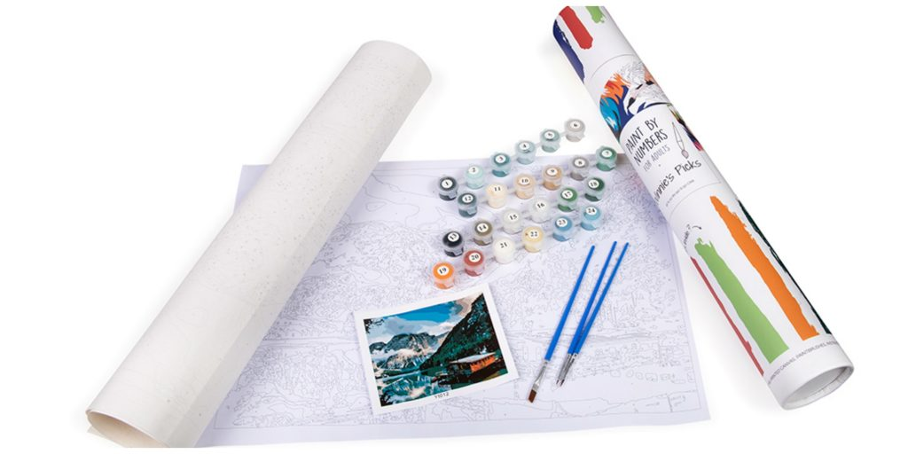 adult paint by numbers kit