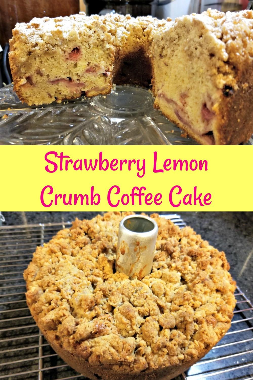 strawberry lemon crumb coffee cake