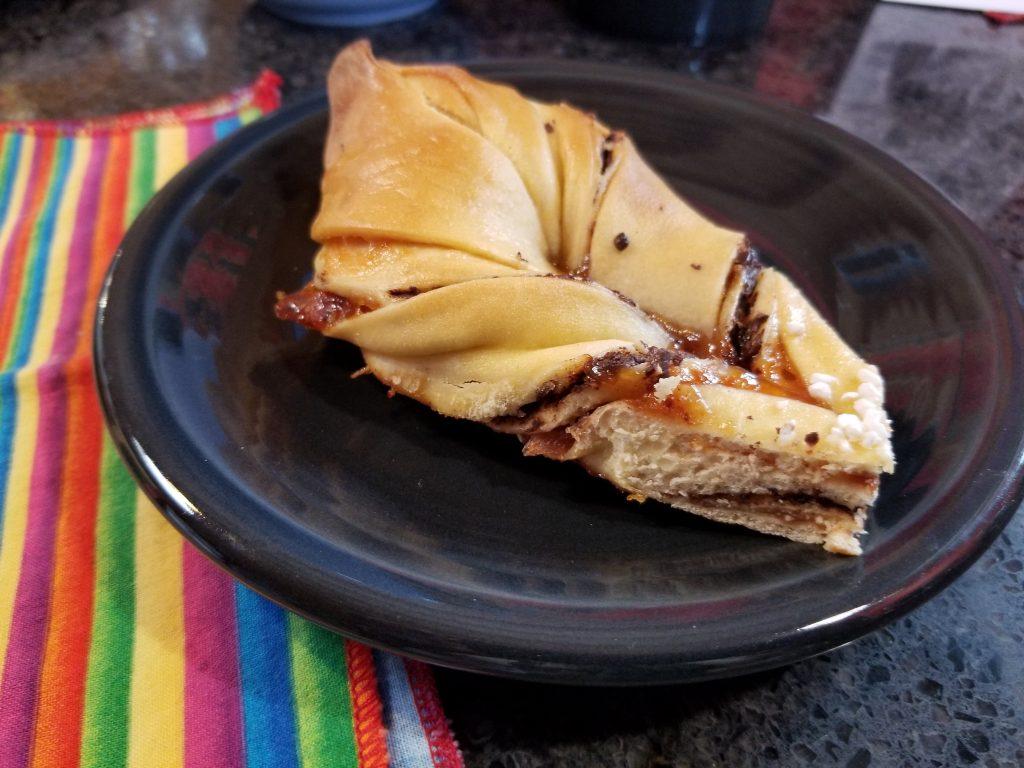 slice of chocolate star bread