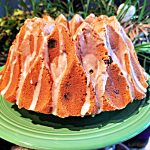 apricot bundt cake with pistachios
