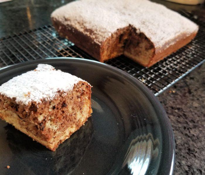 Tahini Recipe: Banana Tahini Marbled Snack Cake
